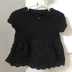 Gap Kids black eyelet bottom knit top